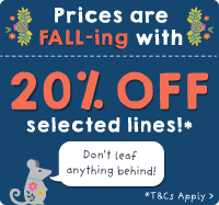 Prices are FALL-ing with 20% OFF selected lines!