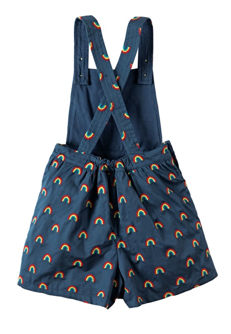 Cara Embroidered Culotte Dungaree