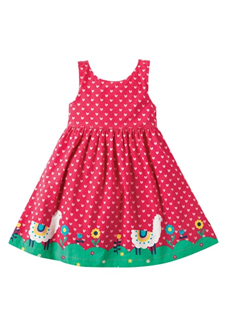 Border Print Party Dress