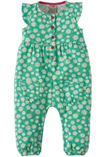 Flower Button Dungaree