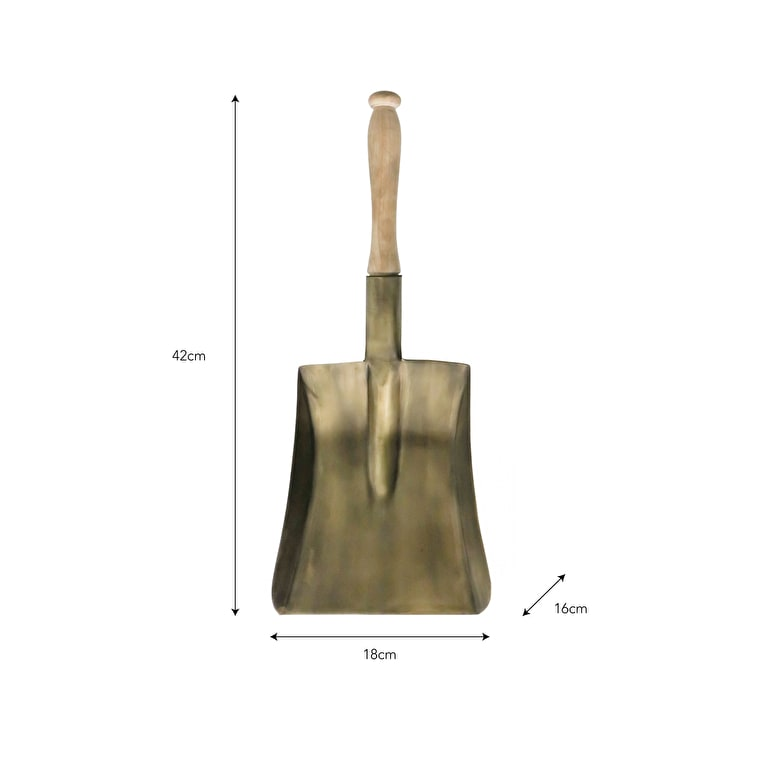 Antique Brass Ash Shovel | Garden Trading