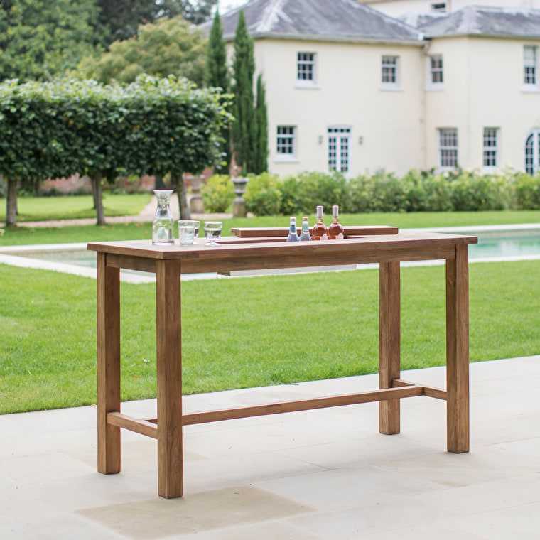 Reclaimed Teak St Mawes Outdoor Drinks Planter Bar Table in Small or Large | Garden Trading