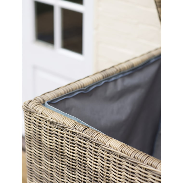 All-weather Rattan Marden Outdoor Cushion Storage Boxn | Garden Trading