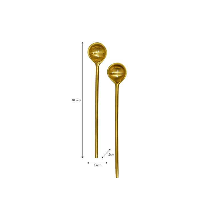 Brass Set of 2 Olive Spoons | Garden Trading