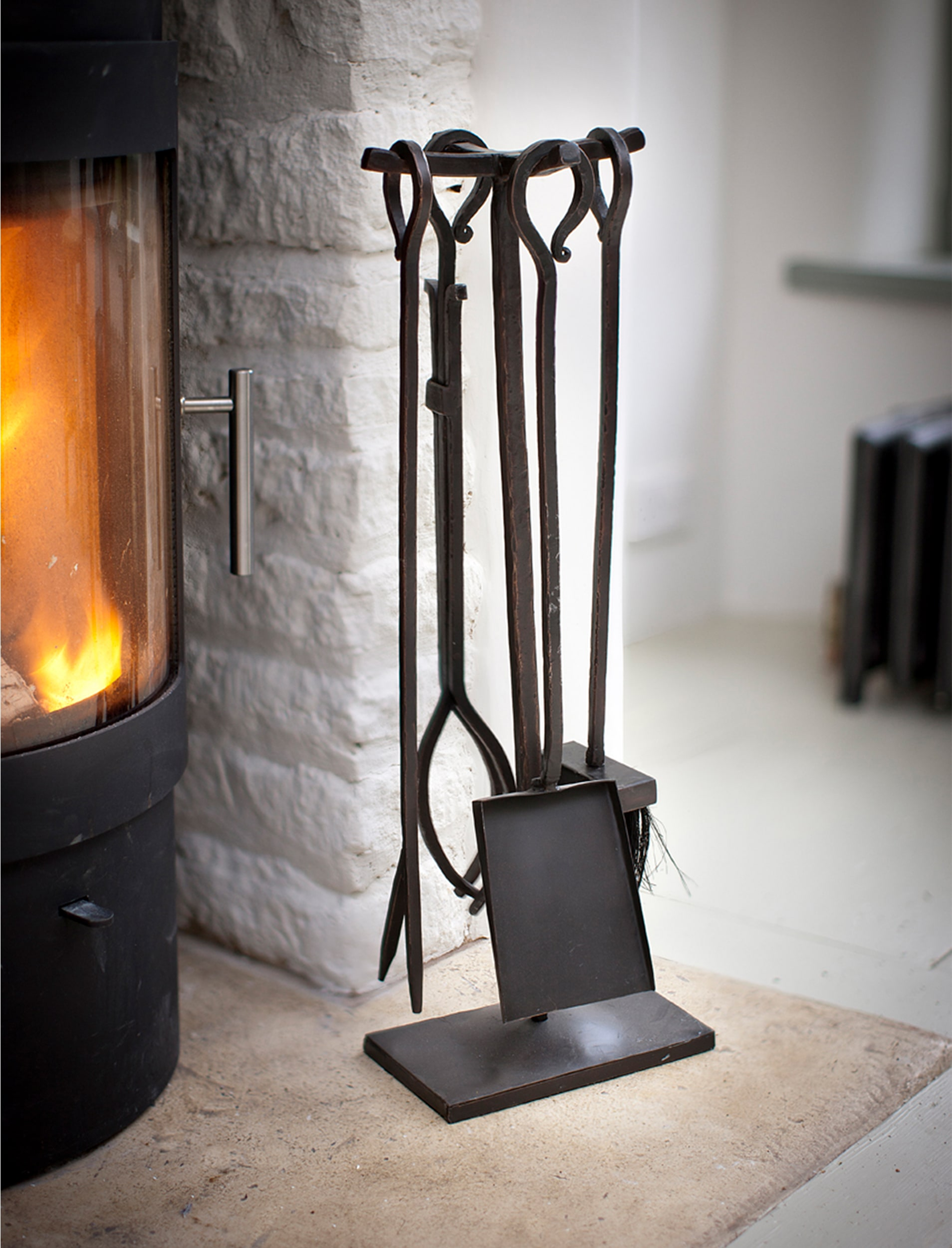 Wrought Iron Fireside Set of 4 Tools  | Garden Trading