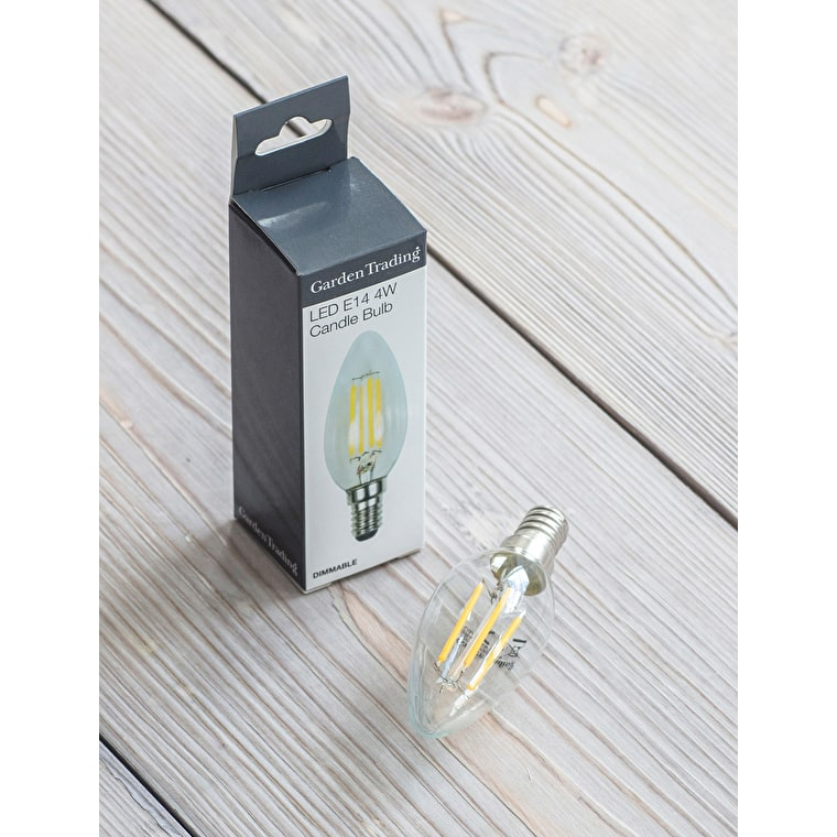 LED E14 Candle 4W 2700K Light Bulb | Garden Trading