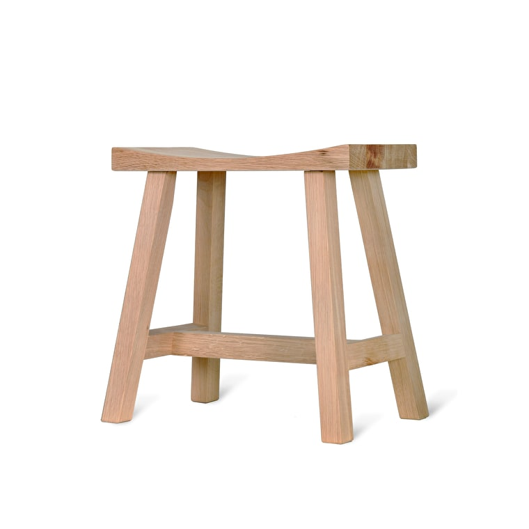 Wooden Clockhouse Stool in Black or Brown | Garden Trading
