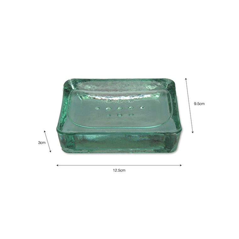 Recycled Glass Wells Soap Dish | Garden Trading