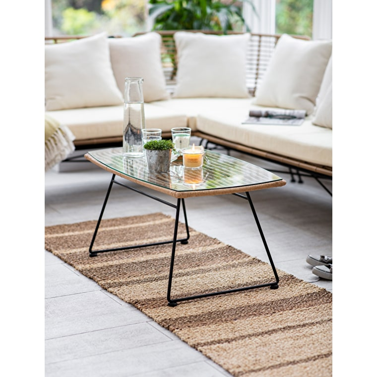 All-weather Bamboo Hampstead Outdoor Coffee Table | Garden Trading