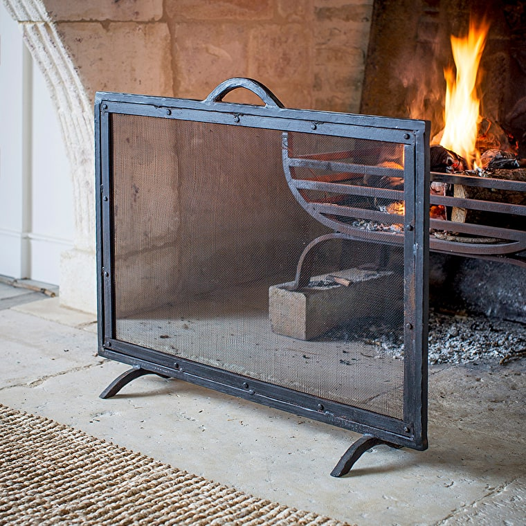 Wrought Iron Firescreen in Small or Large | Garden Trading