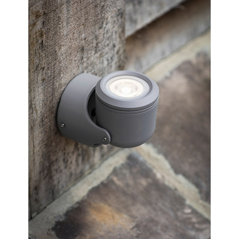 Bovingdon Outdoor Single Wall Light in Grey | Garden Trading