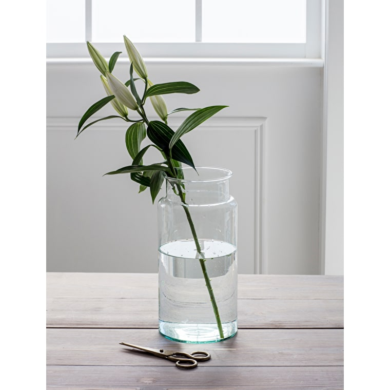 Recycled Glass Tall Broadwell Vase | Garden Trading