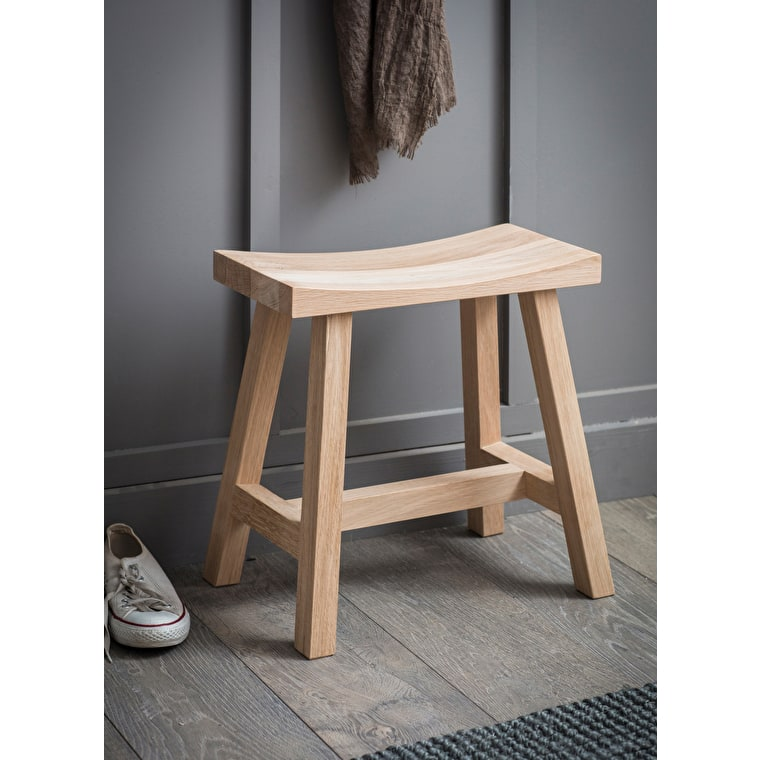 Wooden Clockhouse Stool in Grey, Black or Brown | Garden Trading