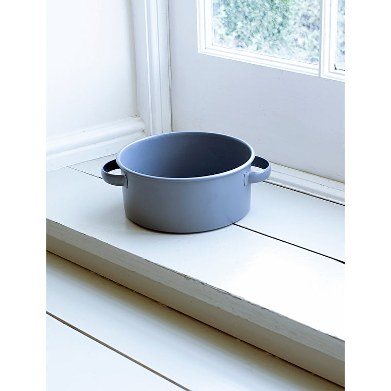 Steel Round Pet Bowl in Grey in Small or Large   Garden Trading