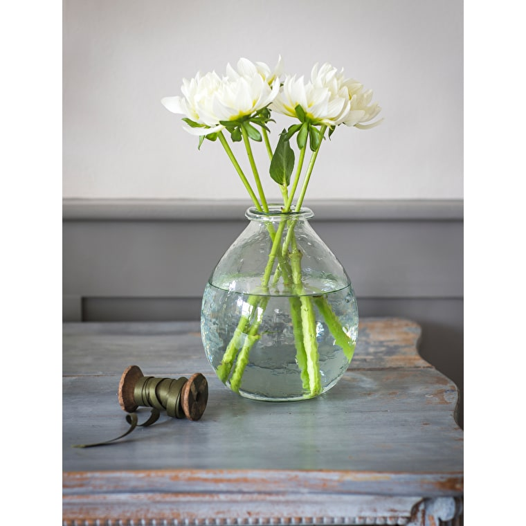 Recycled Glass Vase in Small, Large or Extra Large    Garden Trading