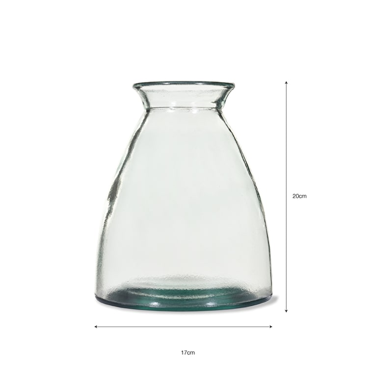 Recycled Glass Wells Flower Vase in Small or Large  | Garden Trading