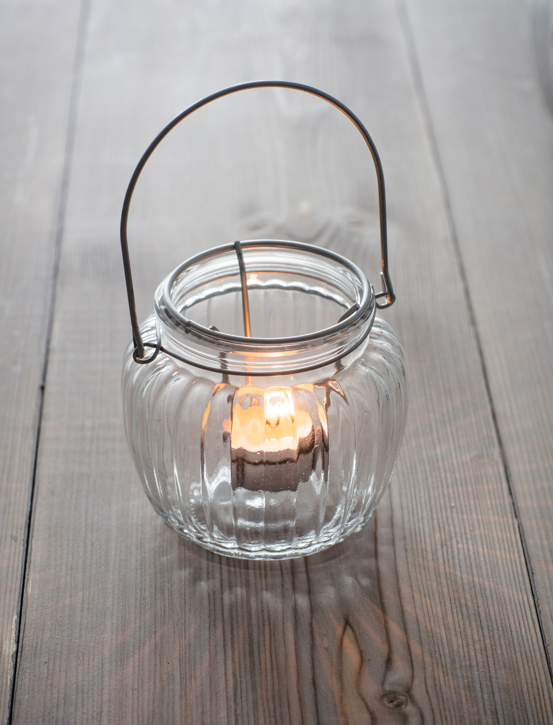 Glass Calcot Votive in Small or Large | Garden Trading