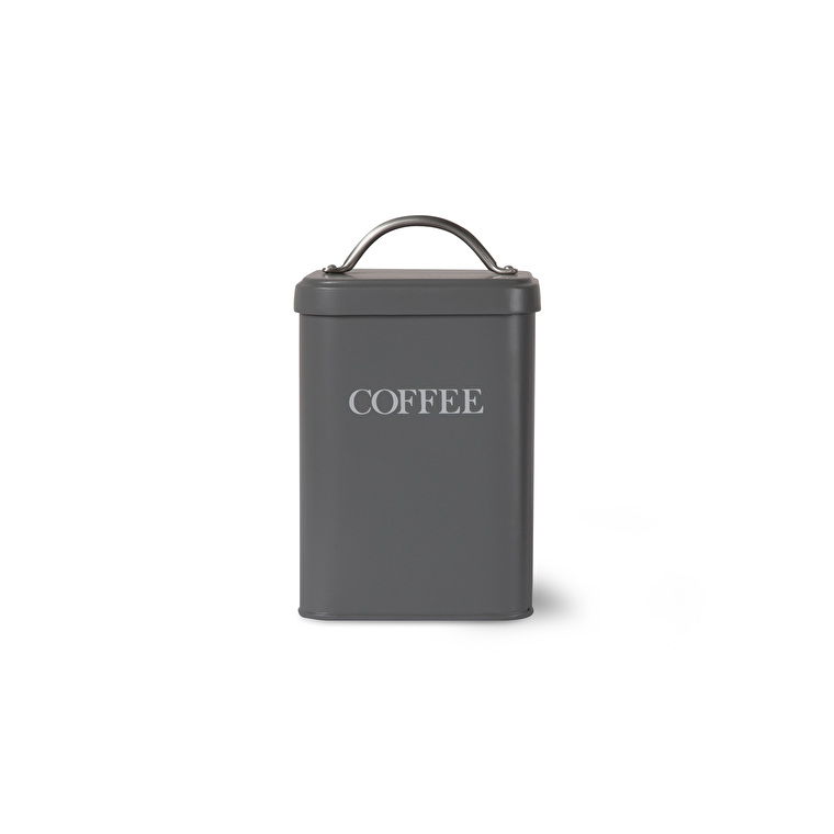 Steel Coffee Canister in Grey, White or Cream | Garden Trading