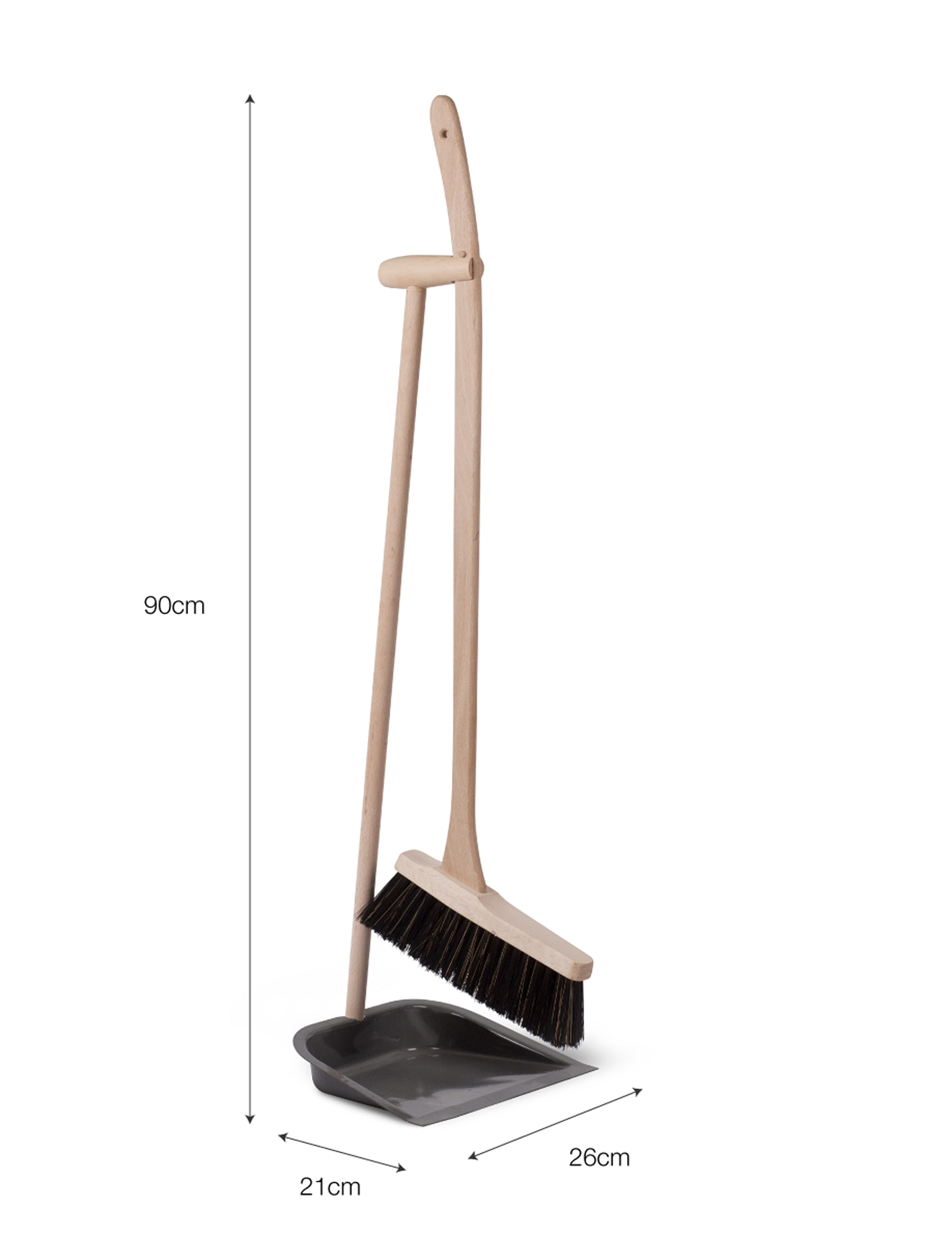 Wooden Long Handle Dustpan and Brush | Garden Trading