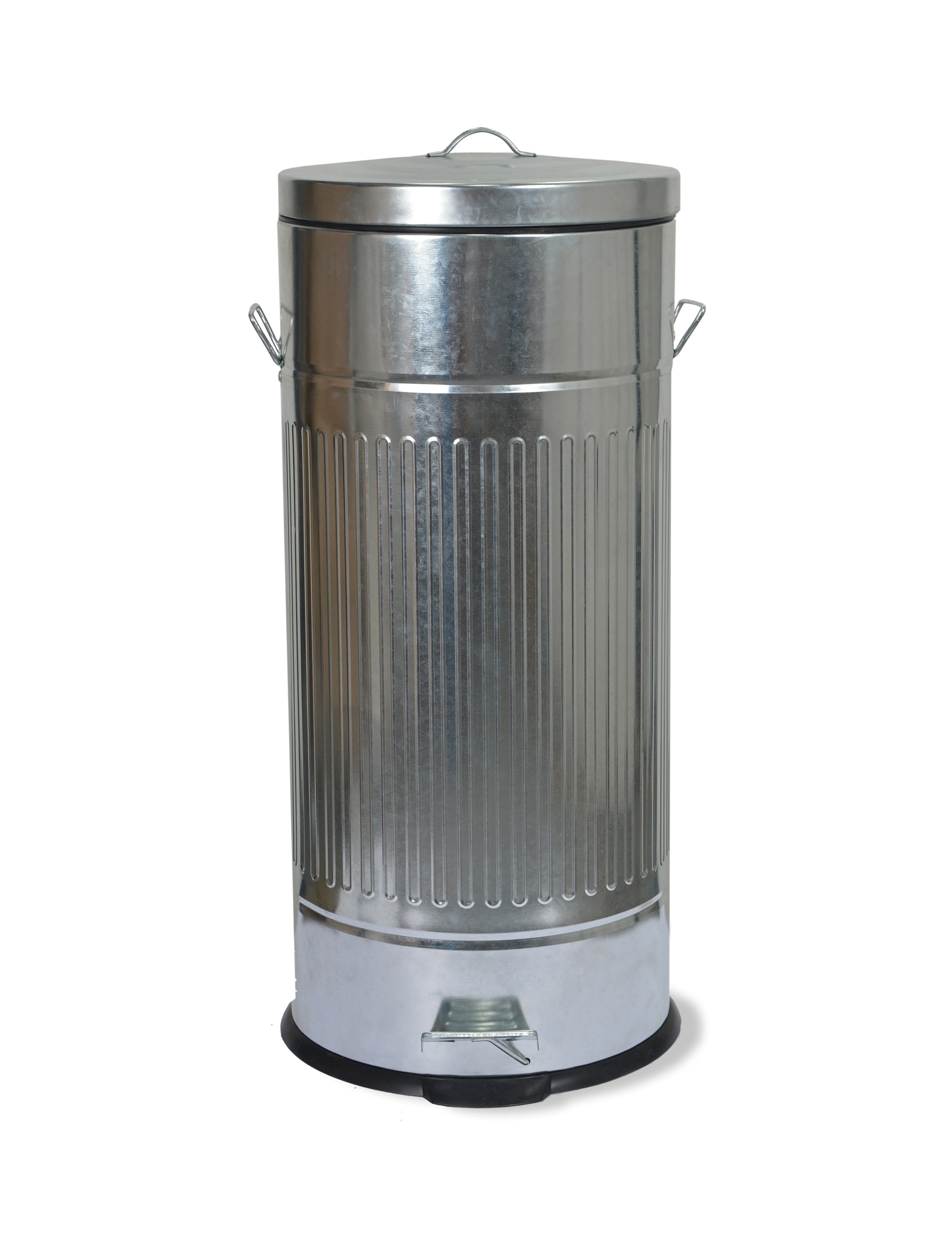Galvanised Steel Pedal Bin in Small or Large   Garden Trading