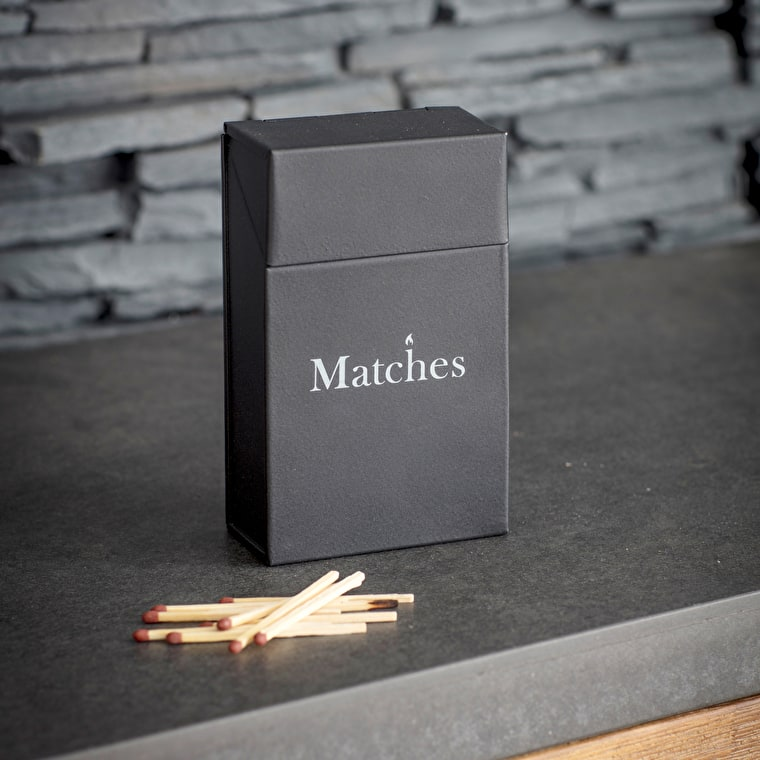Steel Match Box in Black  | Garden Trading