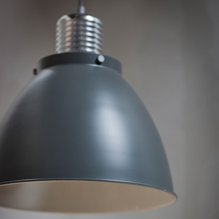 Small Meriden Pendant Light in Grey or Black | Garden Trading