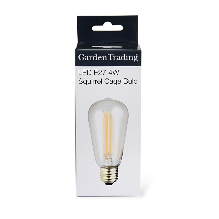 LED E27 Squirrel Cage 4W 2700K Light Bulb  | Garden Trading