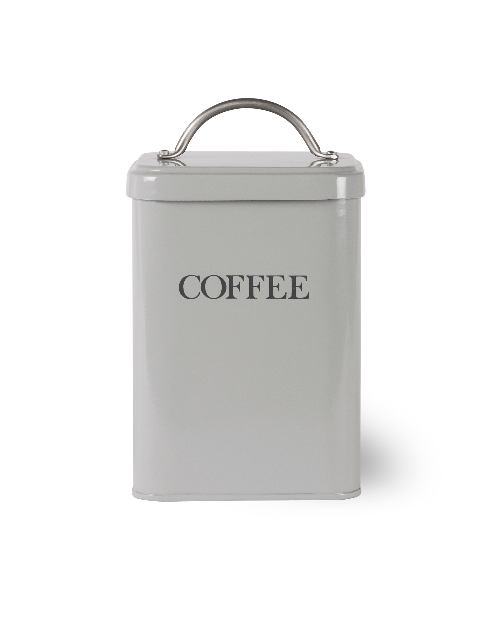 Steel Coffee Canister in Grey  | Garden Trading