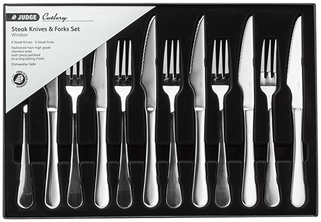 Judge Windsor, 12 Piece Steak Knife & Fork Set