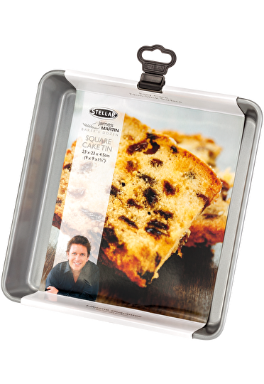 Stellar James Martin Bakers Dozen Square Cake Tin Non-