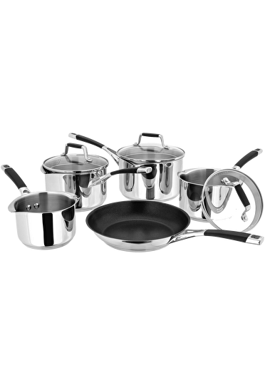 Stellar Induction Draining Saucepan Set