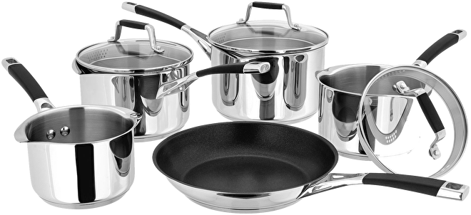 Stellar Induction Draining Saucepan Set,