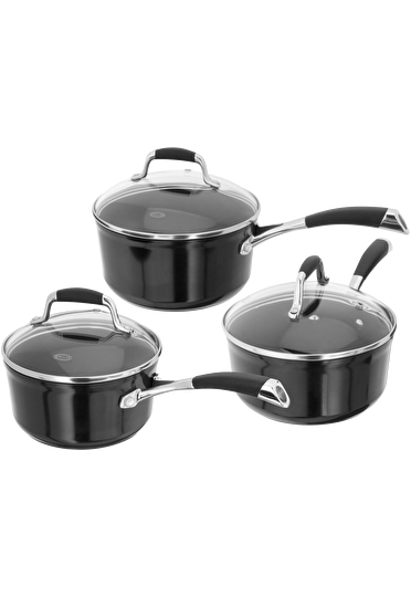 Stellar Forged, 3 Piece Saucepan Set, Non-Stick