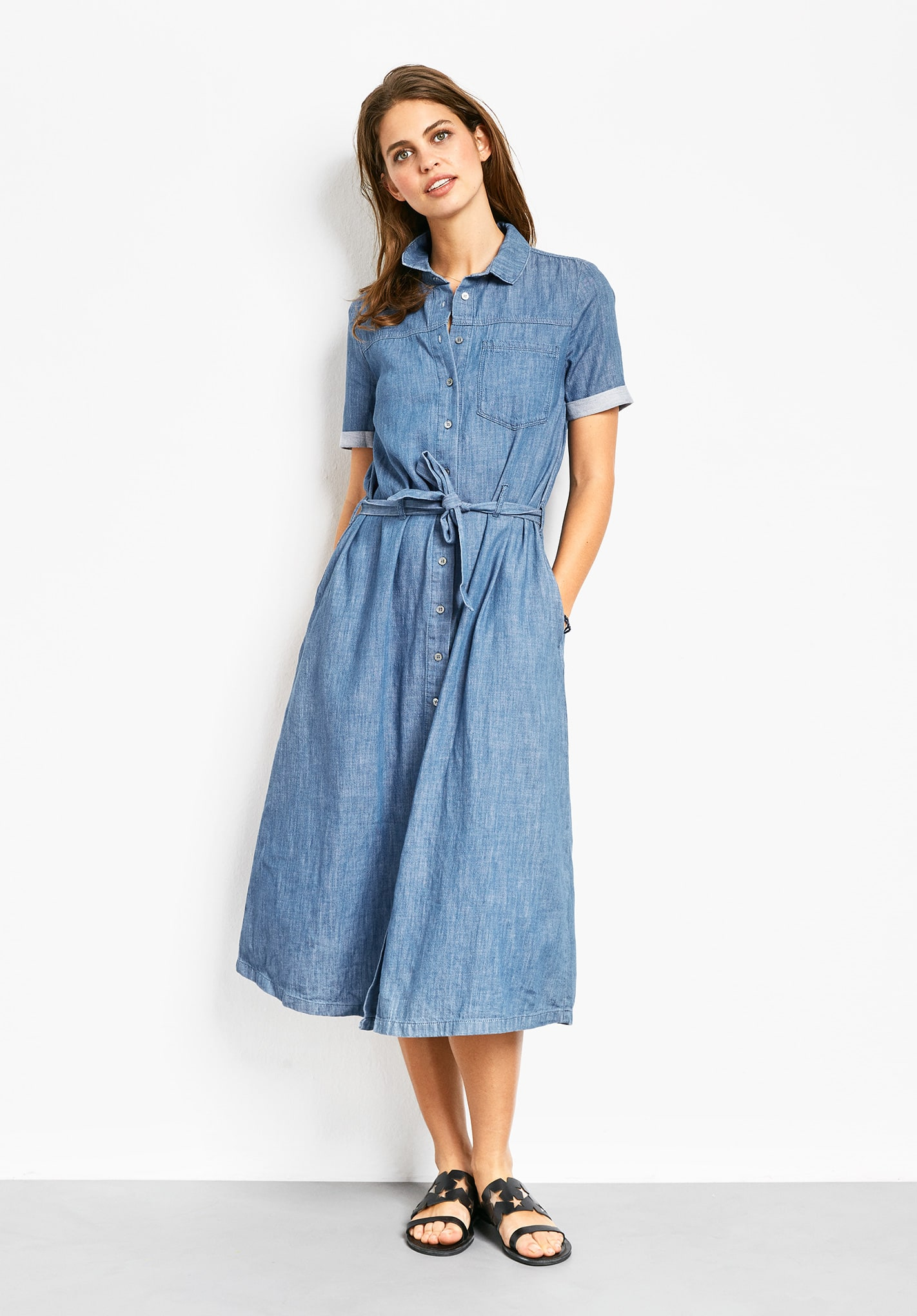 Chambray dresses for women images for Chambray dress