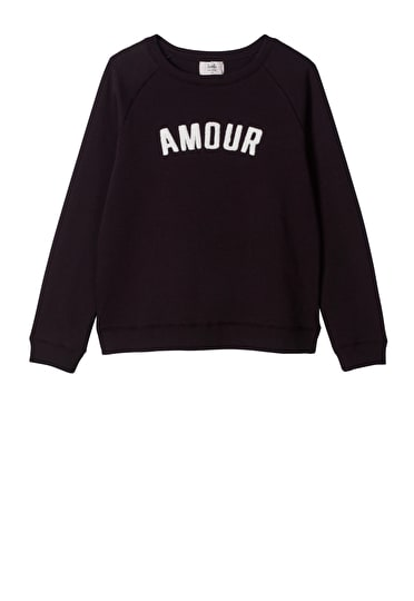 Embroidered Amour Sweat Top