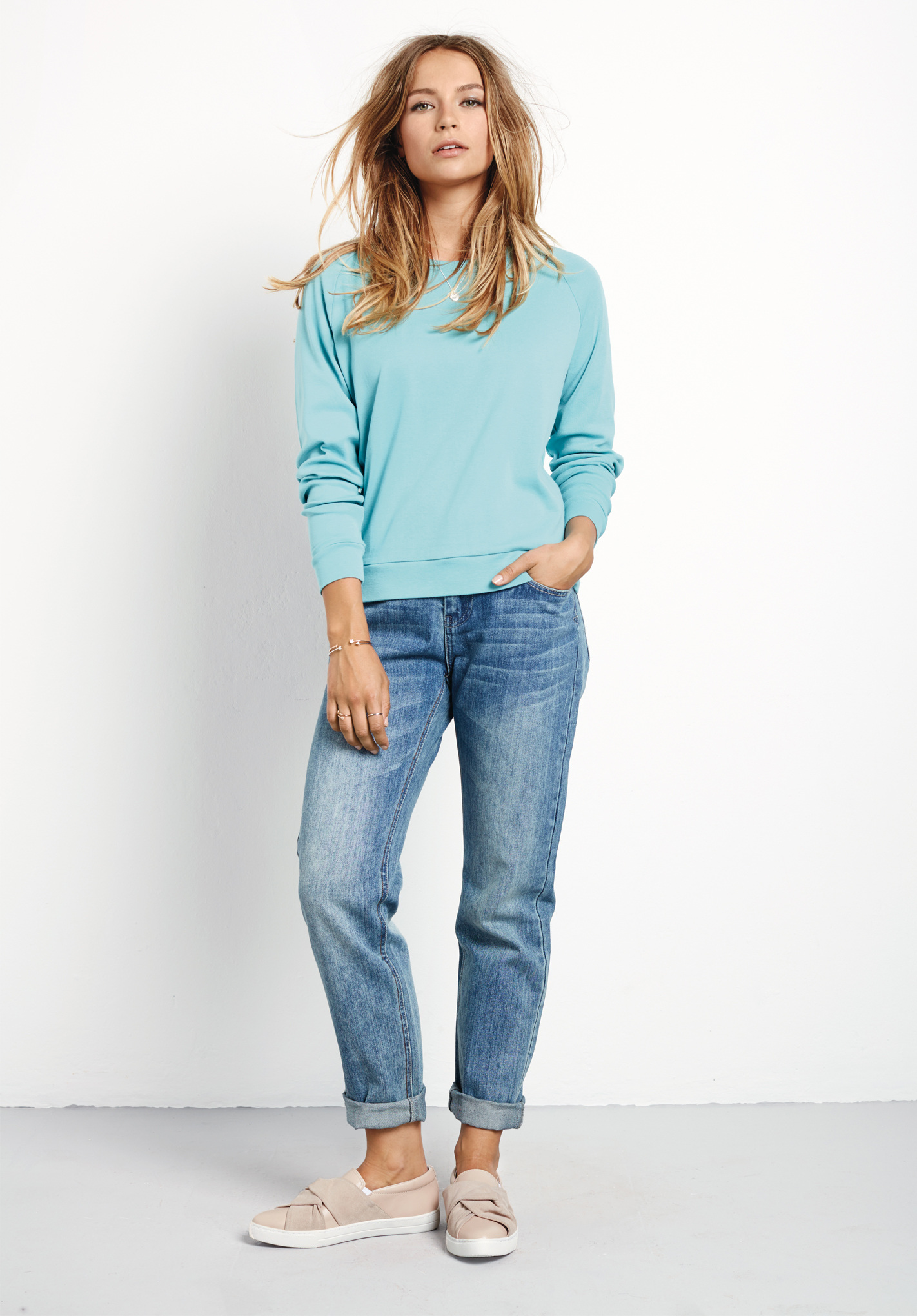 Your Favorite Boyfriend(s) - %color %size Boyfriend Jeans for Women. Whether you're out on the town, running errands or even enjoying downtime - the best boyfriend is always there when you need them. We're talking about the fact that we just can't get enough of these %color %size boyfriend jeans (though you might know them as mom jeans).