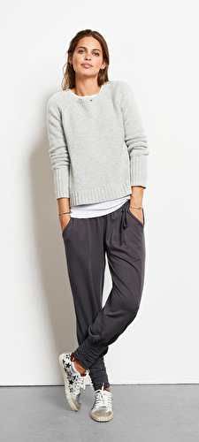 Wool/Cashmere Crew Neck Jumper