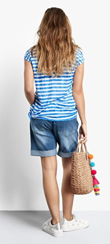Striped Dover Linen Top