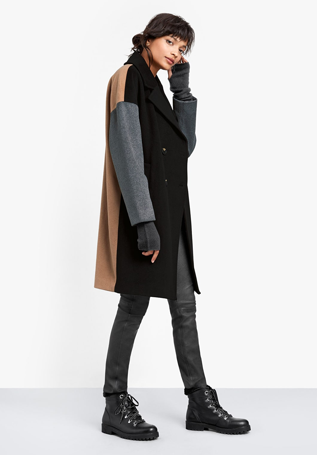 Colourblock Coat | hush