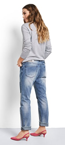 Crop Patch Jeans