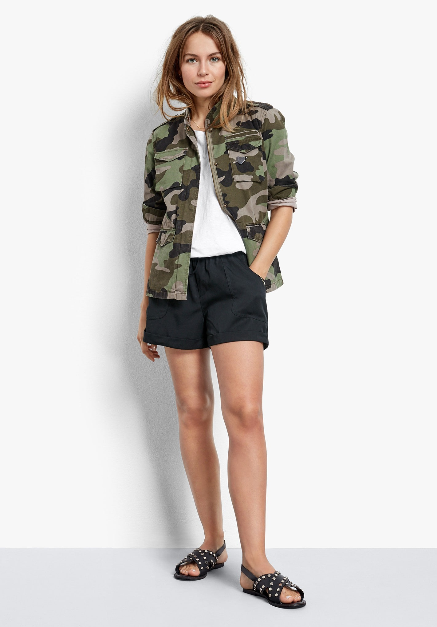 22f49f135d012 Hush's Camo Military Jacket £69 but I would advise you size down to get a slightly  less oversized look which will be more flattering.
