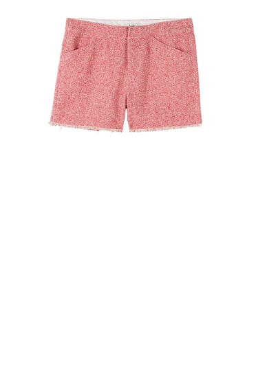 Frayed Tweed Shorts