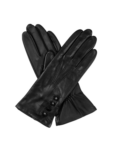 Touchscreen Silk Lined Leather Gloves