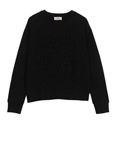 Floral Embroidered Sweat Top