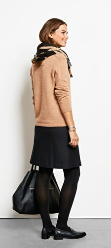 Wool Zip Skirt