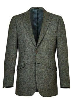 Dark Green Donegal Tweed Jacket