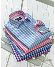 Casual Gingham Check Shirt