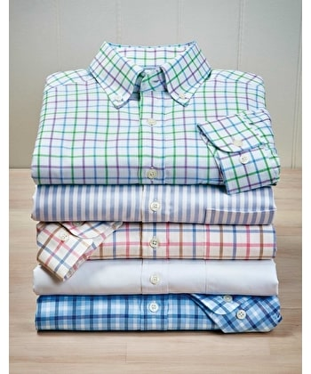 Button-Down Oxford Shirt - Pink/Blue/Brown
