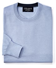 Merino Jumper - Crew Neck - Light Blue