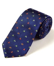 Jockey Silks on Navy - Woven Silk Tie